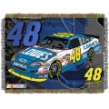 "Jimmie Johnson #48 NASCAR ""Flash"" 48"" x 60"" Metallic Tapestry Throw"