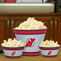 New Jersey Devils NHL Melamine 3 Bowl Serving Set