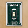 New York Jets NFL Art Glass Single Light Switch Plate Cover