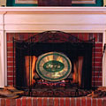 New York Jets NFL Stained Glass Fireplace Screen