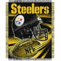 "Pittsburgh Steelers NFL ""Spiral"" 48"" x 60"" Triple Woven Jacquard Throw"