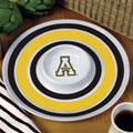 "Appalachian State NCAA College 14"" Round Melamine Chip and Dip Bowl"