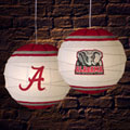 "Alabama Crimson Tide NCAA College 18"" Rice Paper Lamp"
