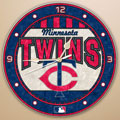 "Minnesota Twins MLB 12"" Round Art Glass Wall Clock"