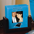 Carolina Panthers NFL Art Glass Photo Frame Coaster Set