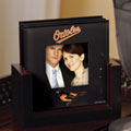 Baltimore Orioles MLB Art Glass Photo Frame Coaster Set