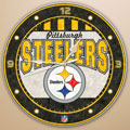 "Pittsburgh Steelers NFL 12"" Round Art Glass Wall Clock"