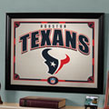 Houston Texans NFL Framed Glass Mirror