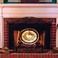 Chicago Bears NFL Stained Glass Fireplace Screen