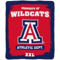 "Arizona Wildcats College ""Property of"" 50"" x 60"" Micro Raschel Throw"