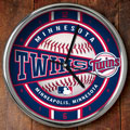 "Minnesota Twins MLB 12"" Chrome Wall Clock"