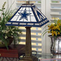 Dallas Cowboys NFL Stained Glass Mission Style Table Lamp