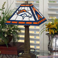 Denver Broncos NFL Stained Glass Mission Style Table Lamp