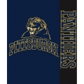 "Pittsburgh Panthers NCAA College ""Stripes"" 50"" x 60"" Super Plush Throw"