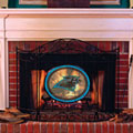 Carolina Panthers NFL Stained Glass Fireplace Screen