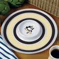 "Pittsburgh Penguins NHL 14"" Round Melamine Chip and Dip Bowl"