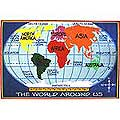"Kids World Map Rug (5'3"" x 7'6"")"