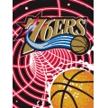 "Philadelphia 76ers NBA ""Tie Dye"" 60"" x 80"" Super Plush Throw"