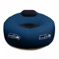 Seattle Seahawks NFL Vinyl Inflatable Chair w/ faux suede cushions