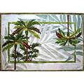 Palm Fronds Rug (4' x 6')