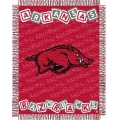 "Arkansas Razorbacks NCAA College Baby 36"" x 46"" Triple Woven Jacquard Throw"