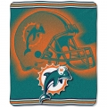 "Miami Dolphins NFL ""Tonal"" 50"" x 60"" Super Plush Throw"
