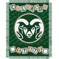 "Colorado State Rams NCAA College Baby 36"" x 46"" Triple Woven Jacquard Throw"