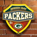 Green Bay Packers NFL Neon Shield Wall Lamp