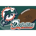 "Miami Dolphins NFL 20"" x 30"" Tufted Rug"