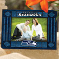 "Seattle Seahawks NFL 6.5"" x 9"" Horizontal Art-Glass Frame"