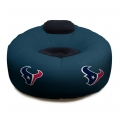 Houston Texans NFL Vinyl Inflatable Chair w/ faux suede cushions
