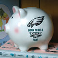 Philadelphia Eagles NFL Ceramic Piggy Bank