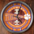"Clemson Tigers NCAA College 12"" Chrome Wall Clock"