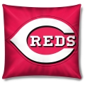 "Cincinnati Reds MLB 16"" Embroidered Plush Pillow with Applique"