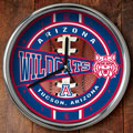 "Arizona Wildcats NCAA College 12"" Chrome Wall Clock"