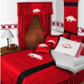 Arkansas Razorbacks Side Lines Comforter / Sheet Set