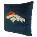 "Denver Broncos NFL 16"" Embroidered Plush Pillow with Applique"