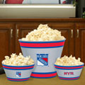 New York Rangers NHL Melamine 3 Bowl Serving Set
