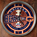 "Chicago Bears NFL 12"" Chrome Wall Clock"