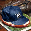 Milwaukee Brewers MLB Baseball Cap Figurine