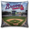 "Atlanta Braves MLB ""Stadium"" 18""x18"" Dye Sublimation Pillow"