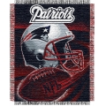 "New England Patriots NFL ""Spiral"" 48"" x 60"" Triple Woven Jacquard Throw"