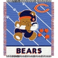 "Chicago Bears NFL Baby 36"" x 46"" Triple Woven Jacquard Throw"