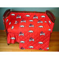 Arkansas Razorbacks Crib Bed in a Bag - Red