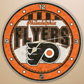 "Philadelphia Flyers NHL 12"" Round Art Glass Wall Clock"