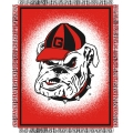 "Georgia Bulldogs NCAA College ""Focus"" 48"" x 60"" Triple Woven Jacquard Throw"