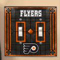 Philadelphia Flyers NHL Art Glass Double Light Switch Plate Cover