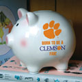 Clemson Tigers NCAA College Ceramic Piggy Bank