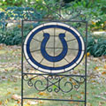 Indianapolis Colts NFL Stained Glass Outdoor Yard Sign