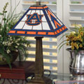 Auburn Tigers NCAA College Stained Glass Mission Style Table Lamp